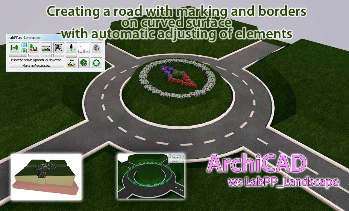 Process of the creating road in ARCHICAD